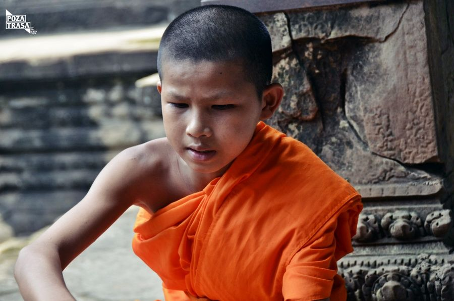 mnich buddyjski Kambodża Khmerski Nowy Rok