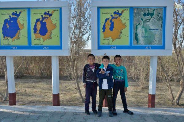 Jezioro Aralskie w Uzbekistanie