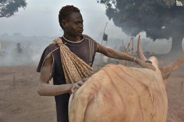 Mundari Poranek w Sudanie Południowym 2021 Wyprawa do Sudanu Południowego