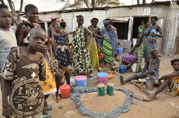 Miasteczka Sudanu Południowego Sudan Południowy 2021 Wyprawa do Sudanu Południowego