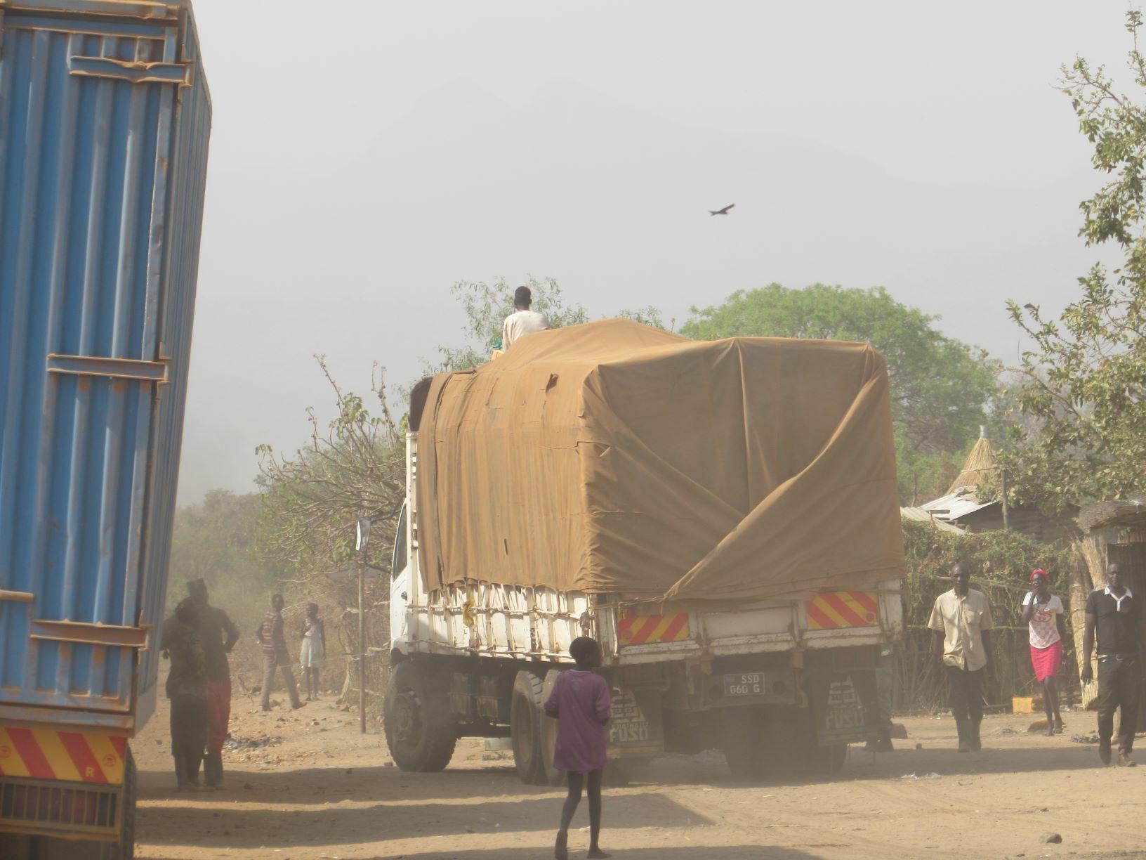 W Sudanie Południowym z punktu widzenia kierowcy zawodowego